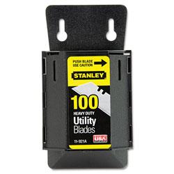 Stanley Bostitch Wall Mount Utility Knife Blade Dispenser w/Blades, 100/Pack