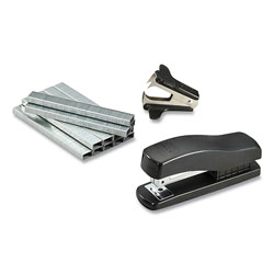 Bostitch® Compact Half-Strip Desktop Stapler, 20-Sheet Capacity, Black