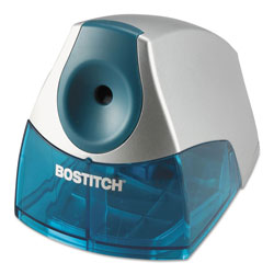 Stanley Bostitch Personal Electric Pencil Sharpener, AC-Powered, 4.25 in x 8.4 in x 4 in, Blue