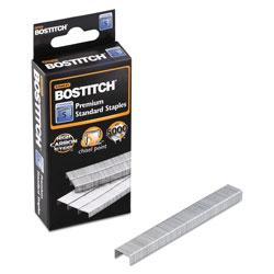Stanley Bostitch Standard Staples, 0.25 in Leg, 0.5 in Crown, Steel, 5,000/Box