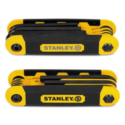 Stanley Bostitch Folding Metric and SAE Hex Keys, 2/Pk