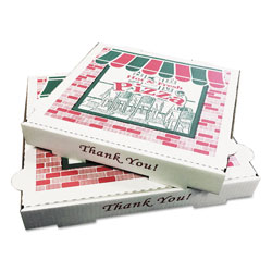 GEN Takeout Containers, 10in Pizza, White, 10w x 10d x 1 3/4h, 50/Carton