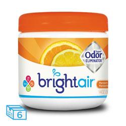 Bright Air Super Odor Eliminator, Mandarin Orange and Fresh Lemon, 14 oz, 6/Carton