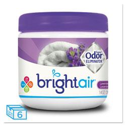 Bright Air Super Odor Eliminator, Lavender and Fresh Linen, Purple, 14 oz, 6/Carton