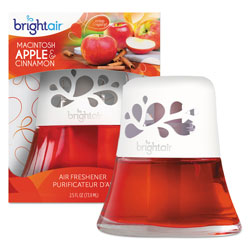 Bright Air Scented Oil Air Freshener, Macintosh Apple and Cinnamon, Red, 2.5 oz