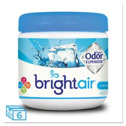 Bright Air Super Odor Eliminator, Cool and Clean, Blue, 14 oz, 6/Carton