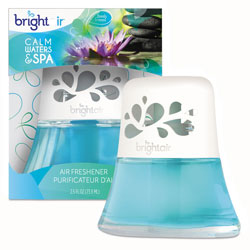 Bright Air Scented Oil Air Freshener, Calm Waters and Spa, Blue, 2.5 oz
