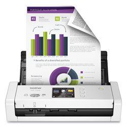 Brother ADS1700W Wireless Compact Color Desktop Scanner with Duplex and Touchscreen