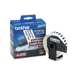 Brother Continuous Paper Label Tape, 1.1 in x 100 ft Roll, White