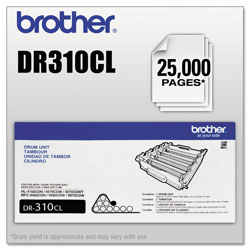 Brother DR310CL Drum Unit, 25000 Page-Yield, Black