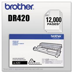 Brother DR420 Drum Unit, 12000 Page-Yield, Black