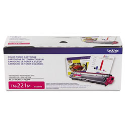 Brother TN221M Toner, 1400 Page-Yield, Magenta