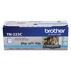 Brother TN223C Toner, 1300 Page-Yield, Cyan