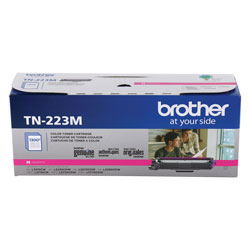 Brother TN223M Toner, 1300 Page-Yield, Magenta
