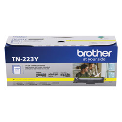 Brother TN223Y Toner, 1300 Page-Yield, Yellow