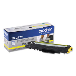 Brother TN227Y High-Yield Toner, 2300 Page-Yield, Yellow