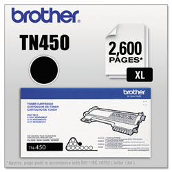 Brother TN450 High-Yield Toner, 2600 Page-Yield, Black