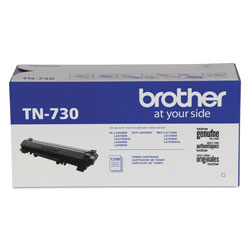 Brother TN730 Toner, 1200 Page-Yield, Black