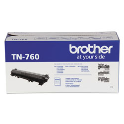 Brother TN760 High-Yield Toner, 3,000 Page-Yield, Black