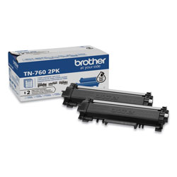 Brother TN7602PK High-Yield Toner, 3,000 Page-Yield, Black, 2/Pack