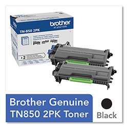 Brother TN8502PK High-Yield Toner, 8,000 Page-Yield, Black, 2/Pack