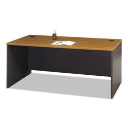 Bush Series C Collection 72W Desk Shell, 71.13w x 29.38d x 29.88h, Natural Cherry/Graphite Gray