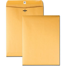 Business Source Clasp Envelopes, Heavy-Duty, 9 in x 12 in, 100/BX, BKFT