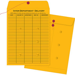 Business Source Envelopes, Inter-Dept, Stand, No.32, 10 in x 13 in, 100/BX, BKFT