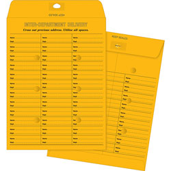 Business Source Envelopes, Inter-Dept, Stand, No.28, 10 in x 13 in, 100/BX, BKFT