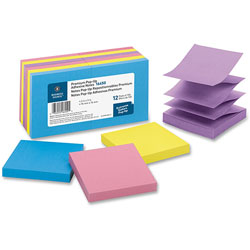 "Business Source Adhesive Note Pads, Pop-up, 3"" x 3"", 100 Sh, Extreme Assorted"
