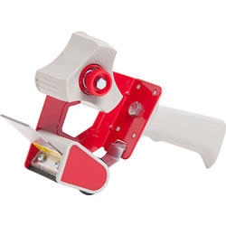 "Business Source Handheld Tape Dispenser, for 3"" Core Tapes, Red"