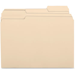 Business Source File Folders, 11 Pnt, 1/3 Cut Asst Tab, Letter, Manila