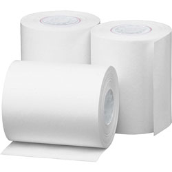 Business Source Thermal Paper Roll, 2-1/4 inx85', 3/PK, White