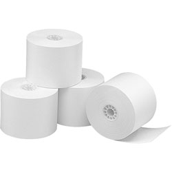 Business Source Thermal Paper Roll, 2-1/4 inx165', 3/PK, White