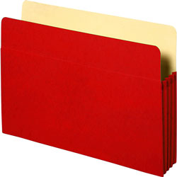 Business Source Accordion Pocket,3-1/2 in Exp,11-3/4 inx9-1/2 in,Red