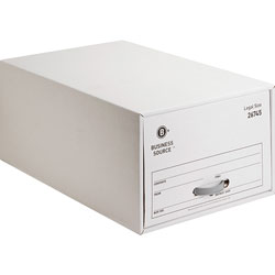 Business Source Legal Sized Storage Drawer, 17-1/4 in x 25-1/4 in x 11-1/2 in, 6/CT, White