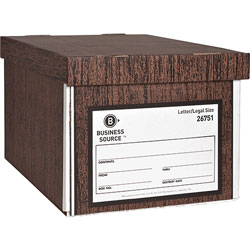 "Business Source Storage Boxes, Lift Off Lid, Letter/Legal, 10"" x 12"" x 15"""