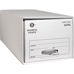 "Business Source Storage Drawer, Letter, 12-1/2"" x 23-1/4"" x 10-1/4"", White"