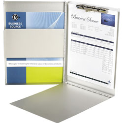 """Business Source Form Holder w/ Storage, Side Opening, 8-1/2"""" x 12"""", Aluminum"""