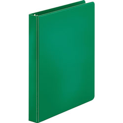 Business Source 35% Recycled Round Ring Binder, 1 in Capacity, Green