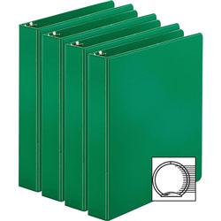 Business Source Binders, Round Rings, 1-1/2 in Cap, 11 inx8-1/2 in, 4/BD, Green