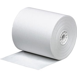 Business Source Paper, Single Ply Rolls, 2-1/4 in x 150', Bond, 3/PK, White