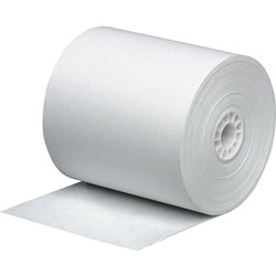 Business Source Paper Roll, Single Ply, Bond, 3 in x 165 in, 4/PK, White