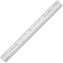 Business Source Plastic Ruler, 12 in, Beveled Edges, Clear