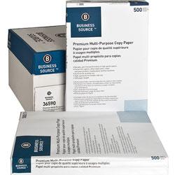 Business Source White Multipurpose Paper, 11 x 17 (Ledger), 92 Bright, 20 lb, 500 Sheets Per Ream, Case of 5 Reams