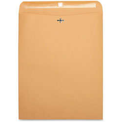 "Business Source Clasp Envelopes, 28 lb., 12"" x 15-1/2"", Brown Kraft"