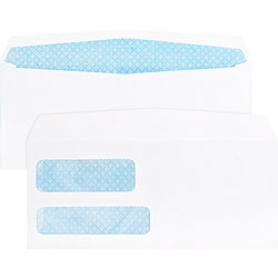 """Business Source 36680 Double Window Envelope, No. 9, 3-7/8"""" x 8-7/8"""", White"""