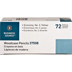 Business Source Woodcase Pencils, No. 2, 72 Pencils/BX, Yellow