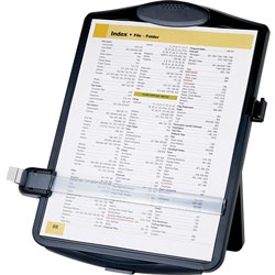 Business Source Document Holder,Easel-style,Adj Clip,11-1/2 inx2 inx13-1/2 in,Black