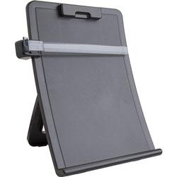 Business Source Document Holder,Easel,Curved,Adj Clip,11 inx2-1/8 inx13-3/4 in,Black